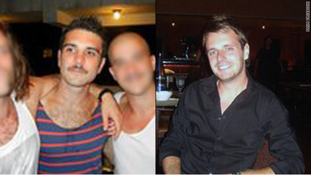 James Kouzaris, left, and James Cooper, right, were found shot dead in Sarasota, Florida, early Sunday morning.