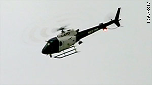 Shot were fired at this Los Angeles Police Department helicopter on Sunday morning.