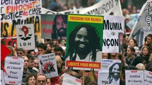 The case of convicted killer Mumia Abu-Jamal has drawn  international attention, including this demonstration in France.