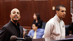 Ahmed Ferhani, left, and Mohamed Mamdouh stand during their arraignment in Manhattan Criminal Court on May 12.