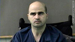 Maj. Nidal Hasan is charged with killing 13 people on November 5, 2009, at Fort Hood, Texas.