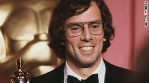 "In 1978, Joseph Brooks accepts an Academy Award for best original song for ""You Light Up My Life."""
