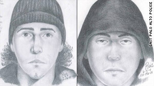 Police are looking for two unidentified men wearing dark clothing at the time of the fatal shooting.