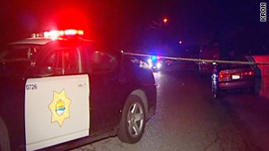 Two people opened fire on a family driving home from a baby shower shortly after midnight Sunday.