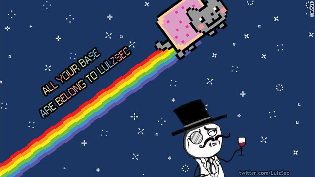 The hacker group Lulzsec recently hacked into PBS' website, leaving this message to visitors.