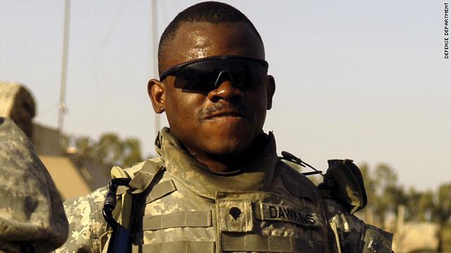 Former U.S. Petty Officer 2nd Class Elisha Leo Dawkins was arrested in April.