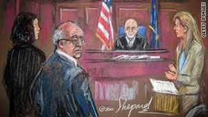 Mahmoud Abdel-Salam Omar, shown in an artist's rendering at an earlier court date, also faces a lawsuit.
