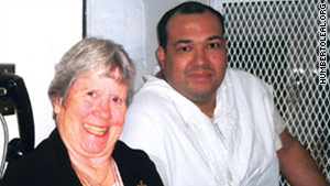 In more recent times, Humberto Leal Garcia Jr. is visited by Sister Germaine Corbin, one of his supporters.