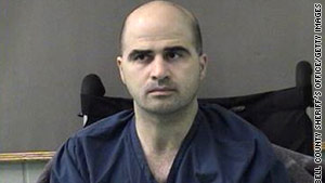 Maj. Nidal Hasan is accused of killing 13 people at Fort Hood, Texas, in 2009.