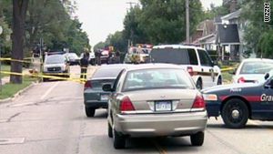 Two crime scenes were found, and police believe the two shootings that killed seven people are related.