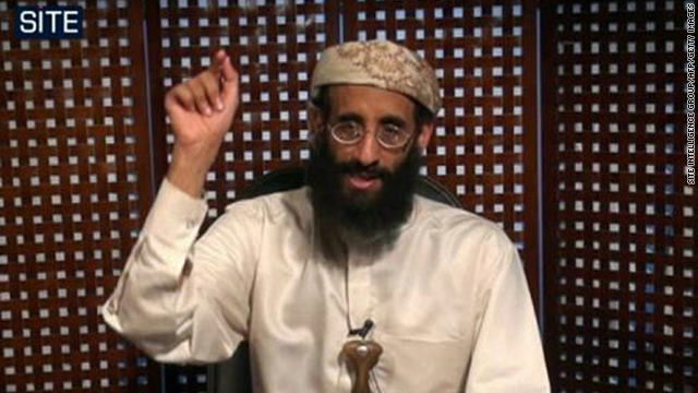 This undated still image from video released in October 2010 shows Anwar al-Awlaki in an audio speech.
