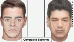 Ann Arbor police have released a composite sketch of two men suspected of sexual assault.