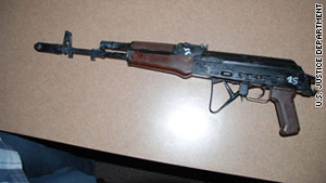 Twenty-six AK-74 rifles and one Dragunov rifle were stolen from the Fort Irwin Army Post in Fort Irwin, California.