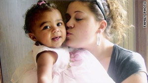 Megan Waterman, seen here with her now 5-year-old daughter, also placed escort ads online.