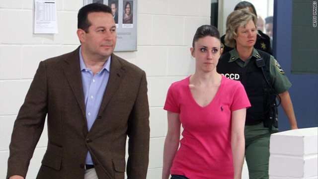 Casey Anthony was released from the Orange County jail and leaves with her attorney Jose Baez last month.