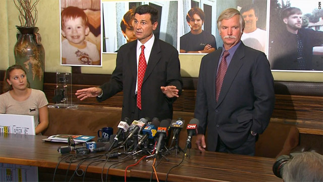Attorney Garo Mardirossian (left) and Ron Thomas, the father of Kelly Thomas, say medical records show Kelly died of brain injuries that were the result of head trauma.