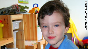 Cameron Duncan, who has autism, is the subject of his father's blog.
