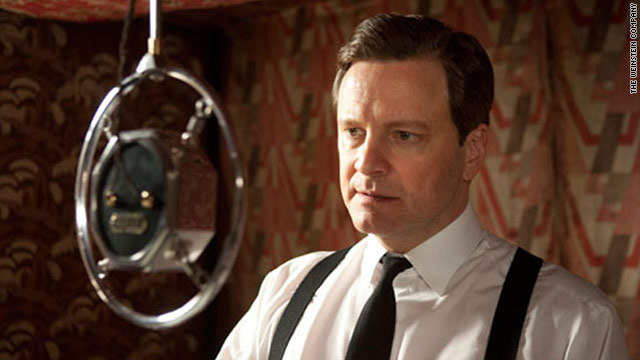 "Colin Firth portrays King George VI in ""The King's Speech,"" which deals with stuttering."