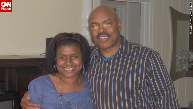 Shelley Brown didn't meet her father until she was in her 30s. Brown's son took this photo of them in Los Angeles in 2008.