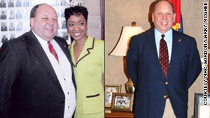 Rep. Steve Holland before and after his weight loss.
