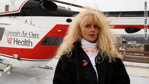 Deb Jump, an Air Care nurse, said the flight was the worst she has had in 10 years.