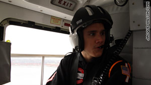 After a slow day in the emergency department, Tim Delgado was excited to be called to the helicopter.