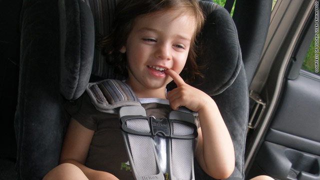 A rear-facing child safety seat does a better job of supporting the head, neck and spine of infants and toddlers in a crash