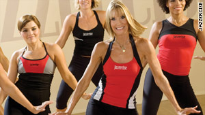 Judi Sheppard Missett, right center, continues to choreograph all the routines for Jazzercise.