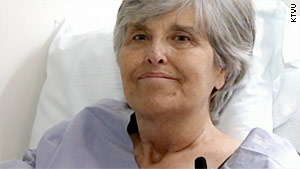 April Langstraat, 65, waited on a transplant list for five years before Friday's surgery.