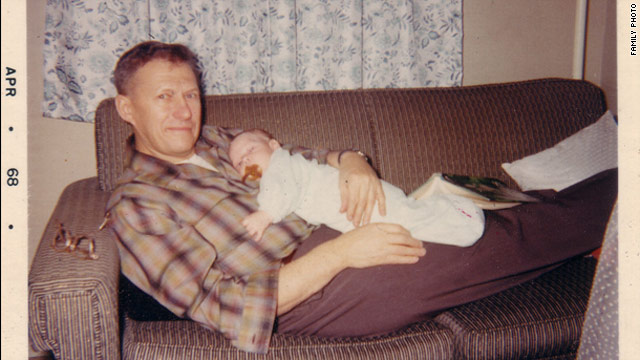 The author and his father in their earliest days together.