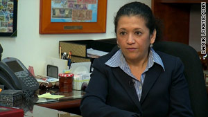 At Vista Middle School, Principal Nidia Castro says she will do her best to keep cups of water in her school.