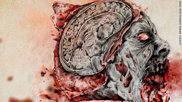 "In ""The Zombie Autopsies,"" Dr. Steven Schlozman imagines a virus that strips the brain down to its basest levels."