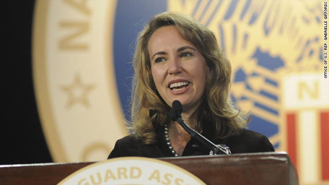 U.S. Rep. Gabrielle Giffords was shot in the head on January 8.