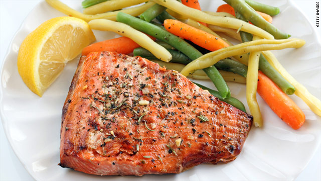 Atlantic salmon contains roughly three to six times as much omega-3s as cod or sole fish.