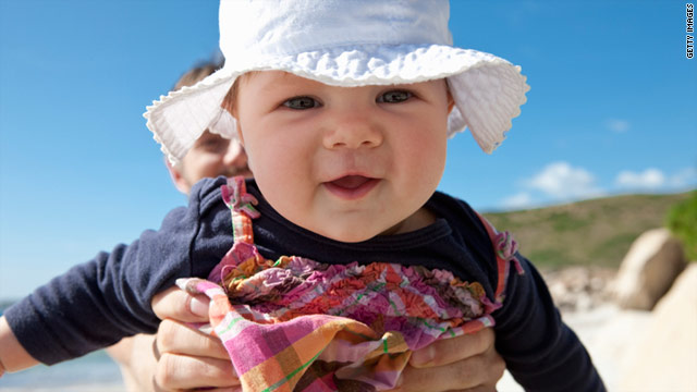 For older babies, Pediatrics recommends dressing infants in brimmed hats and sun-protective clothing.