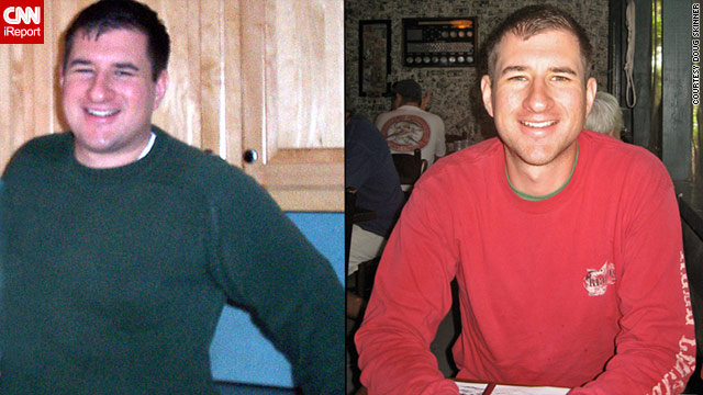 Doug Skinner has lost more than 100 pounds since 2004. Along with his daily running, he eats smaller portions than he used to.