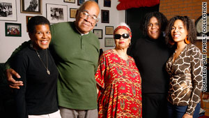 From left: Tananarive Due,  John Due, Patricia Stephens Due, Lydia Due Greisz and Johnita Due.