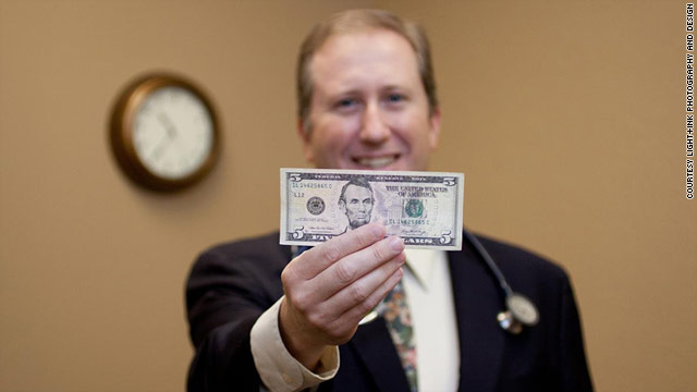 Dr. Timothy Malia of Fairport, New York, gives his patients $5 if they wait longer than 15 minutes for their appointments.