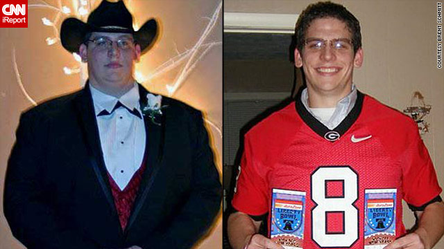 iReporter Brent Schmitt started his 15-month weight loss journey at 419 pounds.