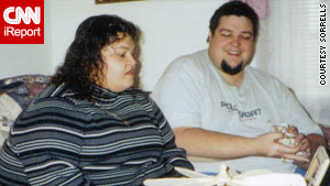 Maggie and Andy Sorrells in 2002, before the couple started a faith-based weight loss program.
