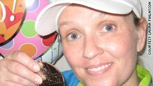 Laura Finlayson committed to running a half-marathon to help manage her asthma.