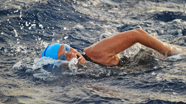 Diana Nyad journeys from Cuba to Florida.