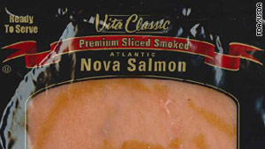 More than 8,000 packages of smoked salmon are being recalled over listeria concerns.