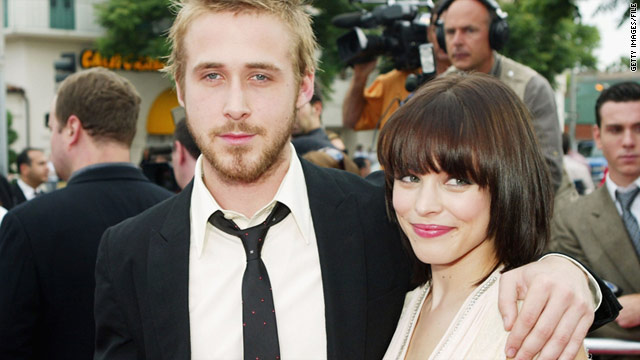 "Actors Ryan Gosling and Rachel McAdams at the premiere of ""The Notebook"" on June 21, 2004, in Los Angeles."