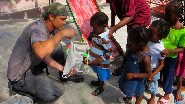 Can-Do founder Eric Klein helps children in Haiti.