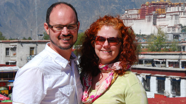 Elisa and Joel Sumner call Shanghai, China, home after leaving Austin, Texas, for new high-tech jobs.