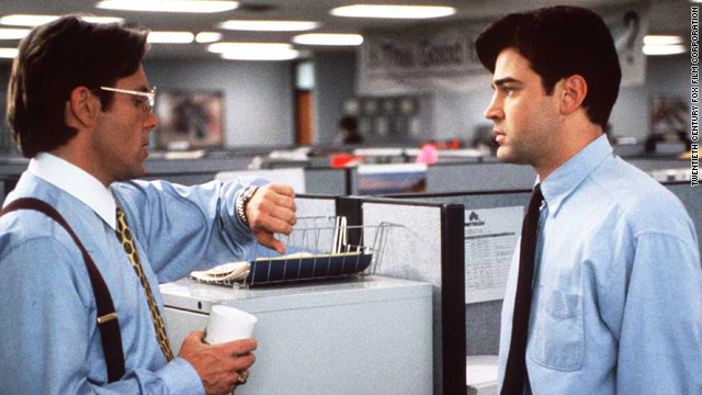 "A combination of mobile technology and a sluggish economy is shrinking American cubicle, the target of office humor in movies such as ""Office Space"" and the Dilbert comics."