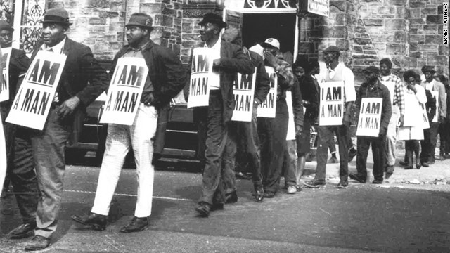 Signs carried by striking Memphis sanitation workers in 1968 and photographed by Ernest Withers are now historic artifacts.