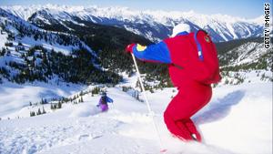 Heli-skiing at Selkirk-Tangiers in British Columbia, Canada.