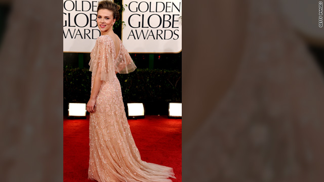 Stylist Nicole Chavez helped Scarlett Johansson pick a shimmery Elie Saab gown for the Golden Globe Awards in January.